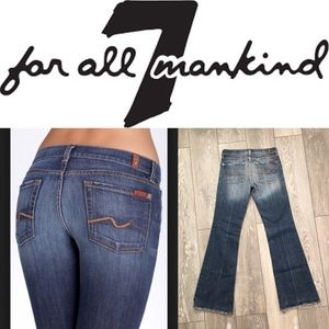 Womens 7 Seven For All Mankind Jeans Flare Stretch